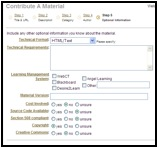 "Screenshot of MERLOT ""COntribute a Material"" page showing the ""Technical Format"" step"