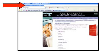 Screenshot of sample webpage to be submitted to MERLOT with arrow pointing to web address